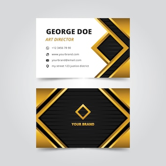 Элегантный дизайн шаблона визитной карточки
