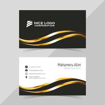 Elegant business card template, front and back
