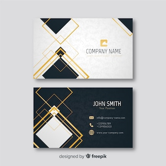 Elegant business card template golden details