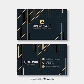 Elegant business card template golden details