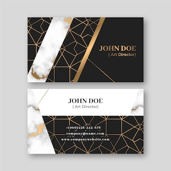 Elegant business card template theme
