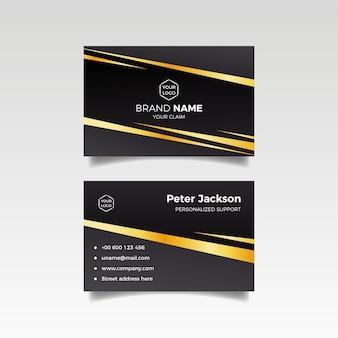 Elegant business card template theme