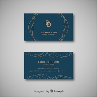 Elegant business card template with abstract design