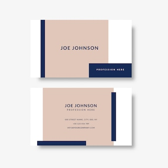 Elegant business card template with geometric shapes