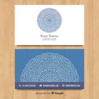 曼陀羅デザインのエレガントな名刺テンプレート