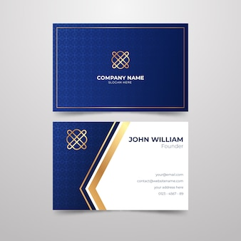 Elegant business card theme