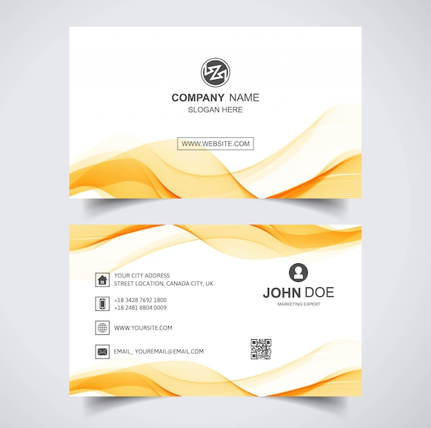 Elegant business card wave template