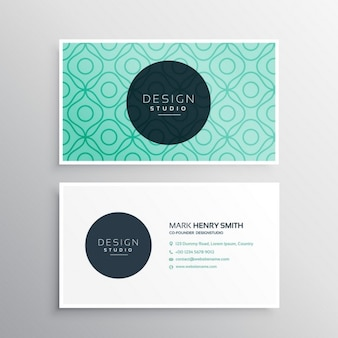 Elegant business card with abstract shapes