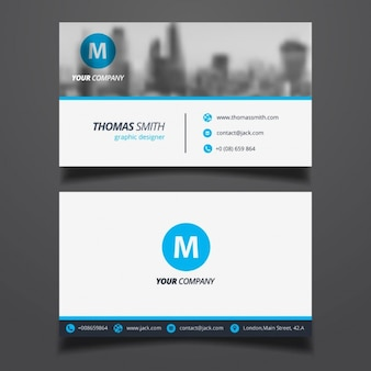 Elegant business card with a blurred background