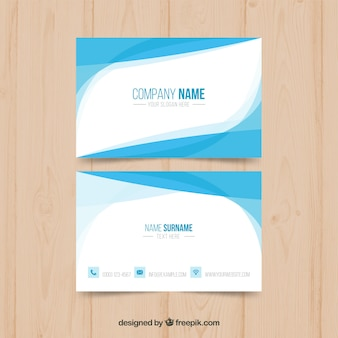 Elegant business card with flat design