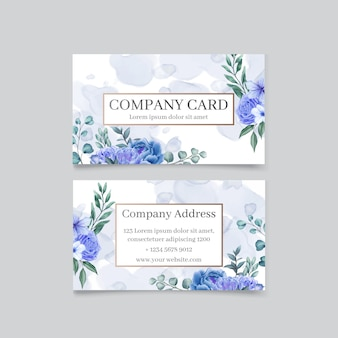Elegant business card with floral background
