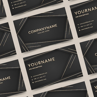 Elegant business card with golden lines