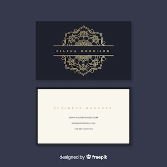 Elegant business card with mandala concept