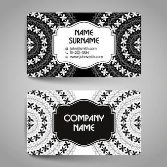 Elegant business card with mandalas