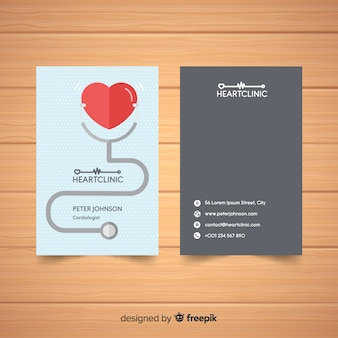 Elegant business card with medical concept