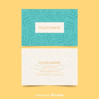 Elegant business card with nature design