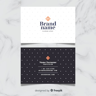 Elegant business card with polka dots