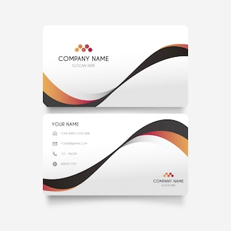 Elegant Business Card with Stylish Waves