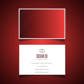 Elegant business card  with zig zag pattern