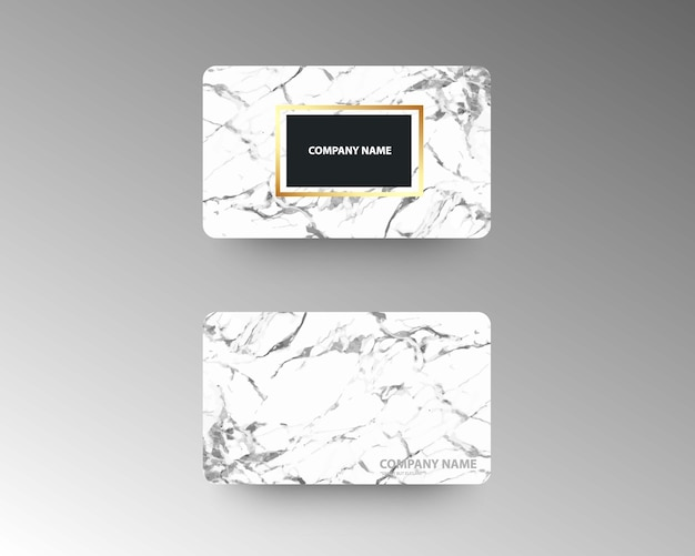 Элегантные визитные карточки с мраморной текстурой и золотом