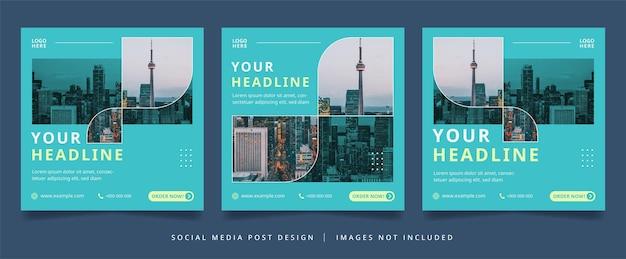 Elegant business flyer or social media banner