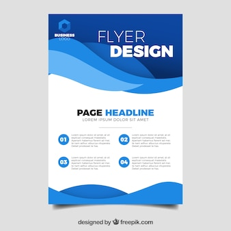 Elegant business flyer template with abstract style