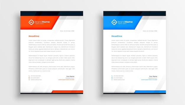 Elegant business letterhead in modern geometric style