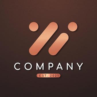 W文字デザインのエレガントなビジネスロゴ