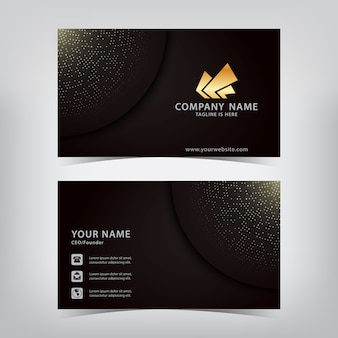 Elegant businesscard with sparkling spots