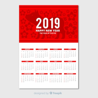 Elegant calendar for chinese new year