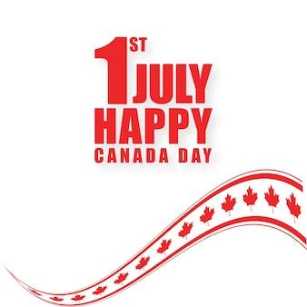 7月1日ハッピーカナダの日の背景