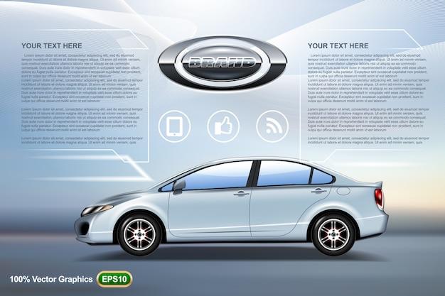 Elegant car sedan ads template mock up