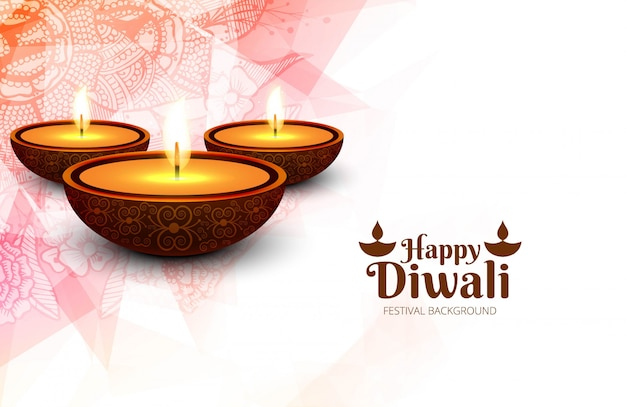 Elegant card design of traditional indian festival vector background