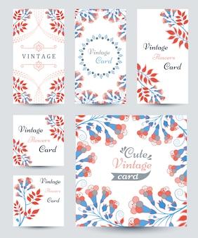 マルチカラーの花とパターンのエレガントなカード
