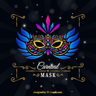 Elegant carnival mask with feathers