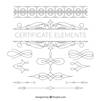 Elegant cerficate element collection