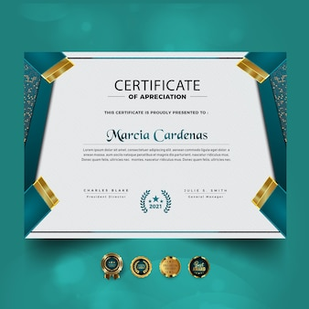 Elegant certificate of achievement template design