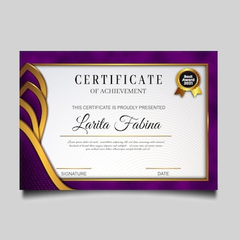 Elegant certificate of achievement template