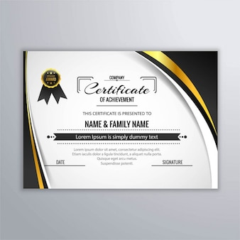 Elegant certificate of achievement