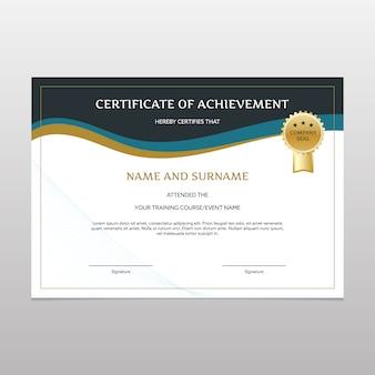 Elegante certificato di realizzazione