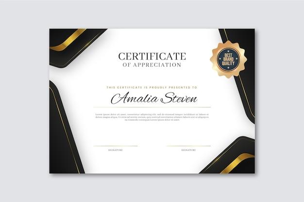 Elegant certificate of appreciation