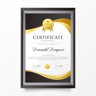 Elegant Certificate of Apreciation Template