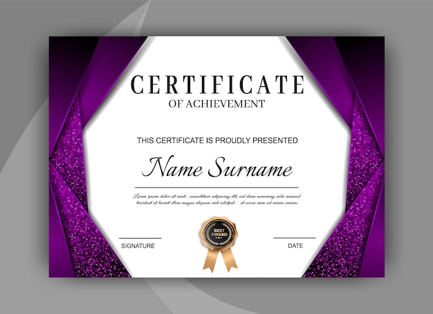 Elegant certificate template. modern diploma design