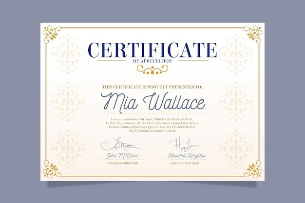 Elegant certificate template theme