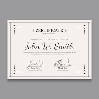 Elegant certificate template with fancy borders