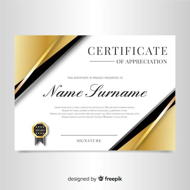 Elegant Marriage Certificate Template Golden Edition: Free Elegant Certificate Template With Golden Design SVG