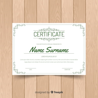 Elegant certificate template with ornamental frame