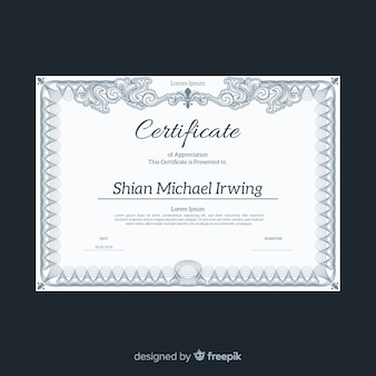 Elegant certificate template with vintage design