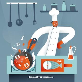 우아한 요리사 구성