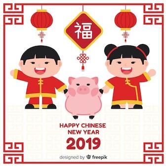 Elegant chinese new year background